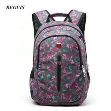 Reguis высокое качество дизайнер Mochila рюкзак ноутбук сумка школьная сумка большой Ёмкость Водонепроницаемый Материал Дорожные сумки