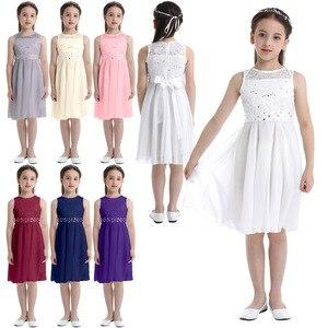 Image 2 - אלגנטי ילדי בנות פרח נסיכת טול תחרה שמלת תינוק ילדים המפלגה שושבינה כדור שמלת טוטו שמלות ילדי בגדים