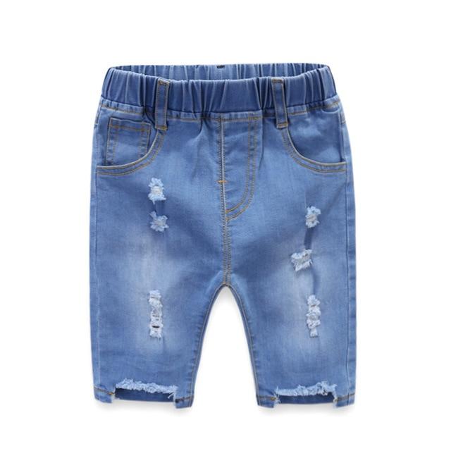 Professioneller Verkauf 2019 Frühling Mädchen Jeans Baby Hosen Mädchen Hosen Für Junge Mädchen Kinder Jeans Für Kinder Jungen Mädchen Harem Knie Länge Hosen 1-5y