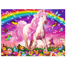 DIY diamond painting horse dream rainbow full dimaond embroidery butterfly mosaic wall art decor