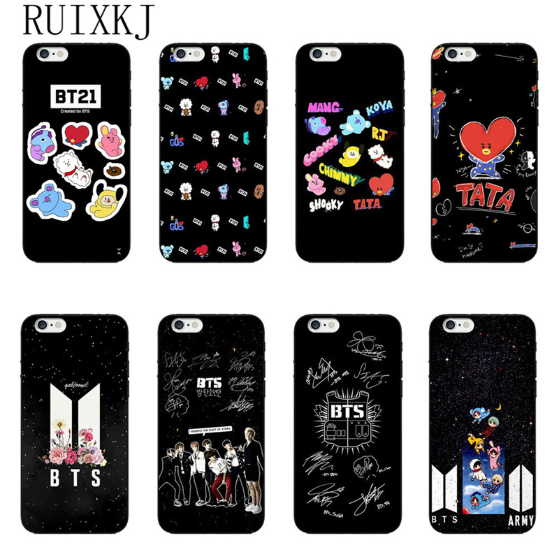 Half-wrapped Case Cellphones & Telecommunications Fashion Style Bts Korea Bangtan Phone Case For Iphone 7 5s Se 6 6s 7 8 Plus X Cover For Bt21 Young Forever Love Yourself Soft Tpu Phone Case