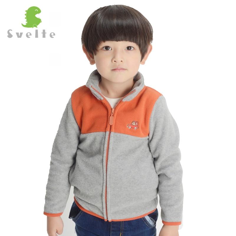Svelte Brand Autumn Winter Boys Kids Collision Double Color Fur Coat Fleece Jacket Clothes Children Garcon Sweatshirts Jersey