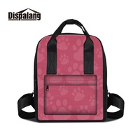 Dispalang 3D Print Footprint Patterns On Double Shoulder Bag For Girl Design Your Own Backpacks For