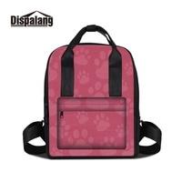 Dispalang 3D Print Footprint Patterns On Double Shoulder Bag For Girl Design Your Own Backpacks For