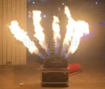 DMX 512 5 глава LPG Пламени Проектор сценическое шоу эффект пять струй пожарная машина с кейс для ночного клуб