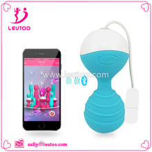 Top quality App bluetooth remote silicone bead ball sex love vaginal exerise adult sex toy for woman vaginal trainer