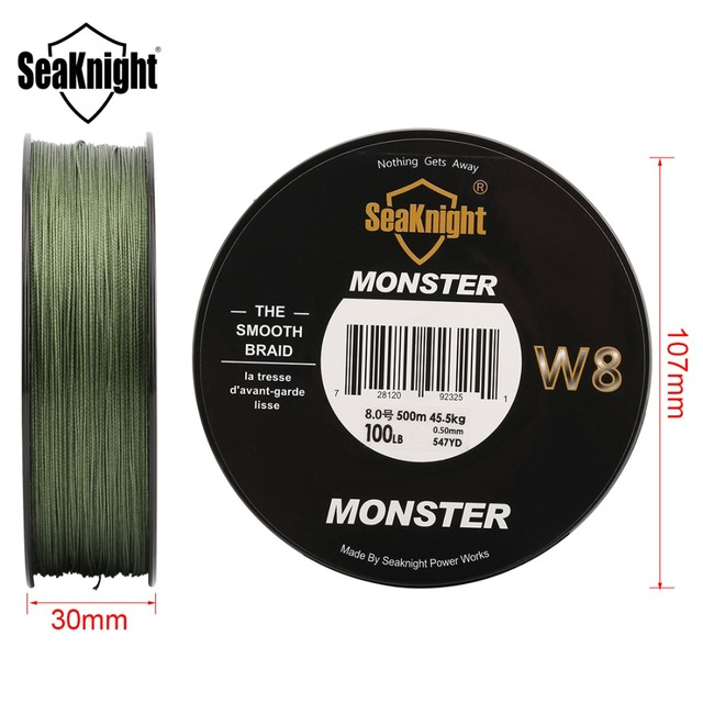 Wysokiej jakości 500 m / 546yds monster w8 żyłka pleciona pe multifilament linia 8 stoi miękka linia tkaniny wędkarstwo morskie 20-100L