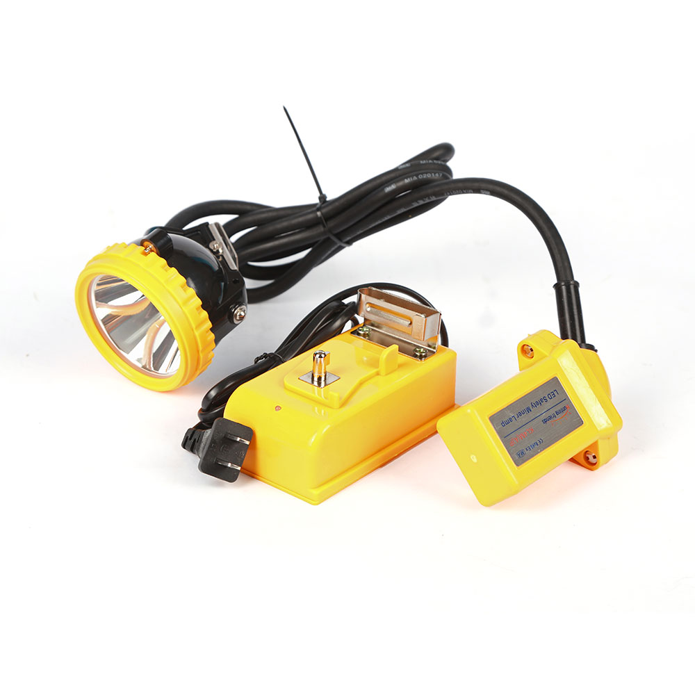 10pcs lot New Safety Miner Lamp KL4M A Plus Rechargeable Mining Headlamp Explosion Rroof Headlight Mining Cap Lamp for outdoor in Headlamps from Lights Lighting