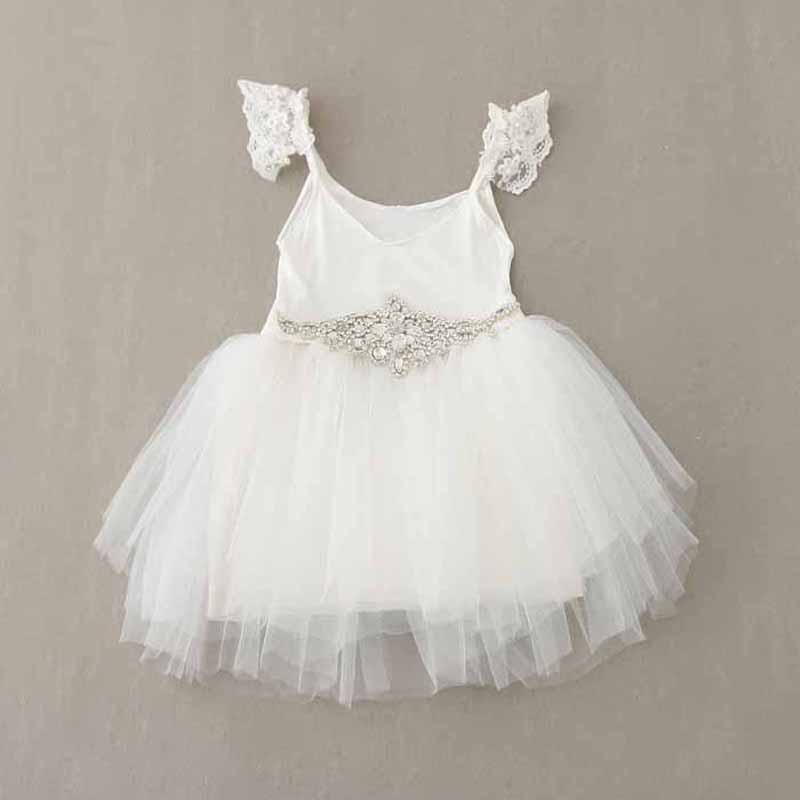 Crystal Girl s kids Pageant Dress Prom Party Princess Ball Gown Formal lace  Dresses 2-7 years toddler girls clothing b4a2a108bca6