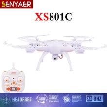 Original xs801c rc 2.4g 4ch 6-axis drone con cámara de 2mp hd modo sin cabeza y sin cámara quadcopter vs syma x5c
