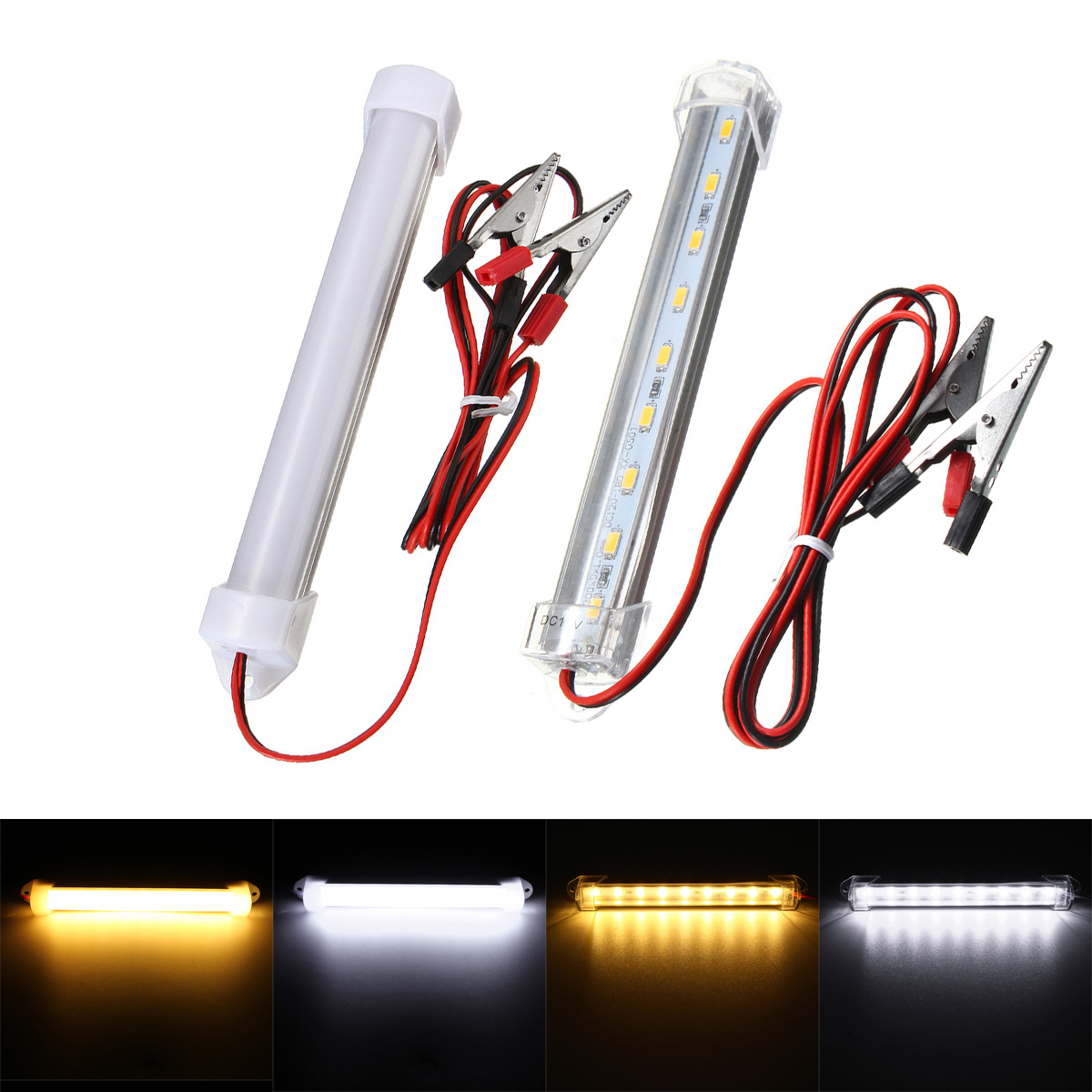 DC12V LED Car Interior White Strip Lights Bar Lamp Car Inspection Light For Van Caravan Car Signal Lamp Pure/Warm White
