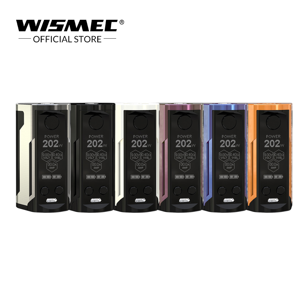 Original Wismec Reuleaux RX GEN3 Dual Mod Box 230W Output Electronic cigarette vape mod by dual 18650 battery vs rx gen3 mod electronic cigarette 230w original rev gts mod temperature control box vape mod dual 18650 battery vape with ecigs atomizer rda