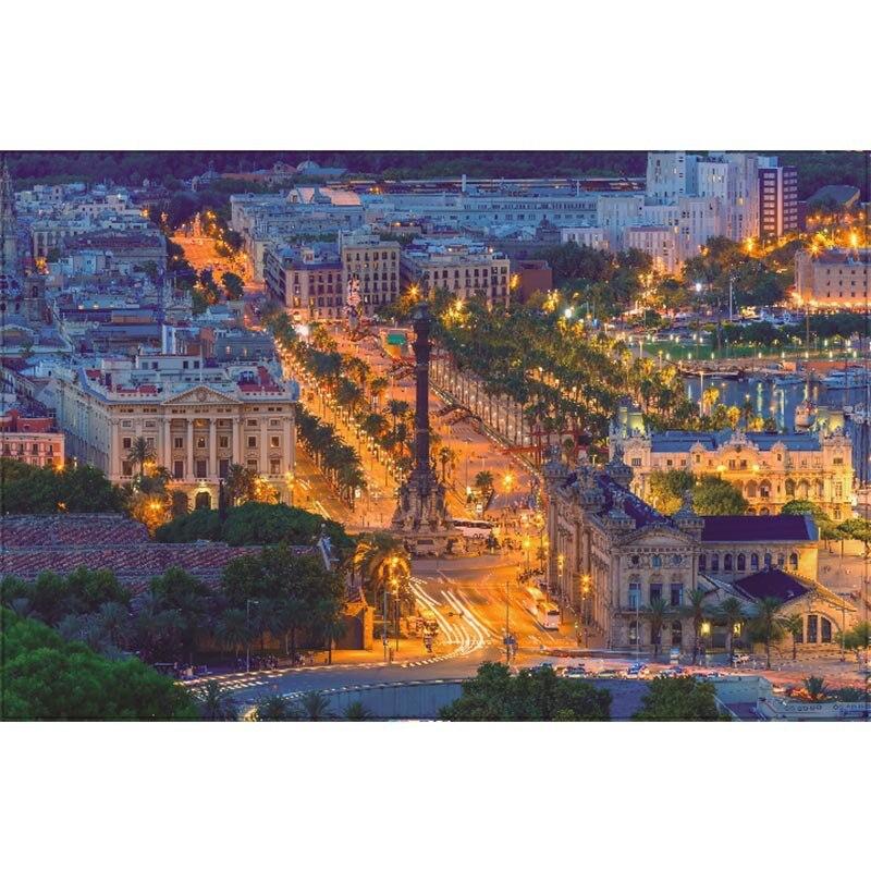 1500 pièces Nuit Paisible pour Ville Paysage Peinture Puzzles Papier Plus Épais 1500 pièces Puzzle Jouet Cadeau pour Nouvelles Festival