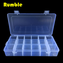 18 Slots Adjustable Grid Multi Function Tools Jewelry Screws Box Storage Beads Hand Tool Electronic Plastic Case PP Transparent(China (Mainland))