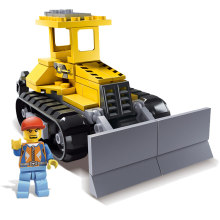 Newest Original Box Kazi Brick Trans Toys City Bulldozer Engineering Vehicles Robot Model Building Blocks