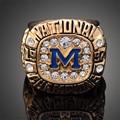 Antique Gold Plated Retro 1997 Michigan Of University Rose Bowl Game Ring Men J02123