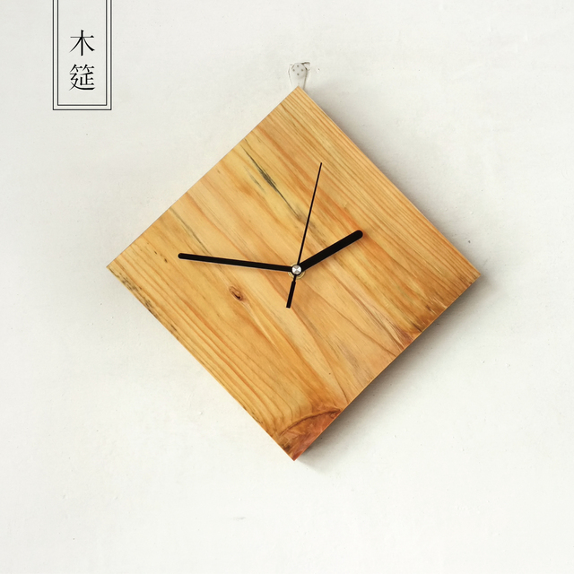 Wooden Kitchen Clock Peerless Faucets Natural Wall Needle Quartz Clocks Creative Stickers Watch Mute Design Home Decor