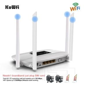 Image 2 - 300Mbps 4G Router Entsperrt 4G LTE CPE Wireless Router Unterstützung SIM Karte 4Pcs Antenne Mit LAN port Unterstützung Bis zu 32 Wifi Benutzer