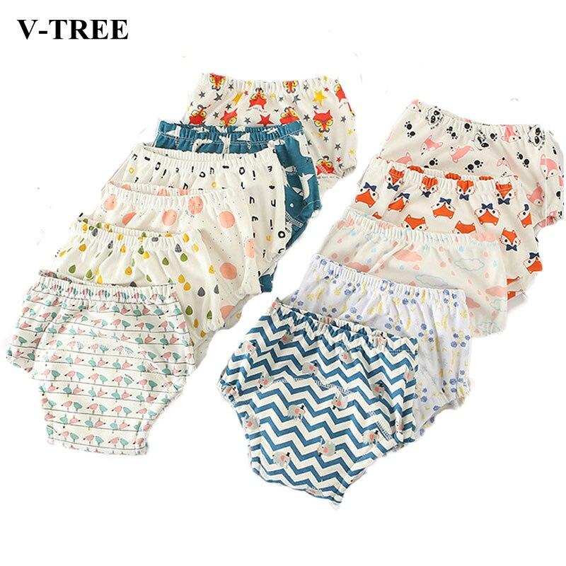 1dd19a95a3127 2018 pantalones de entrenamiento para bebés 6 capas de pañales para bebés  bragas lavables bombachos para bebés pantalones cortos para niños