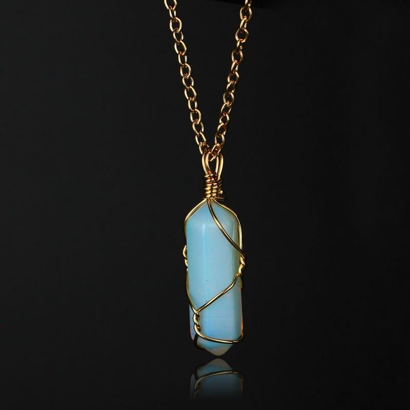 Charm Fashion Jewelry Glamorous Nature Stone 2 Layer Choker Necklace Pendant