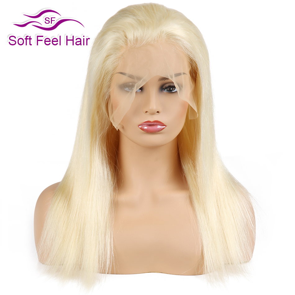 Soft Feel Hair 613 Blonde Lace Front Human Hair Wigs With Baby Hair For Women Bleached