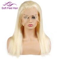 Мягкость волос 613 светлые Синтетические волосы на кружеве натуральные волосы парики с ребенком волос для Для женщин отбеленные узлы Реми пр