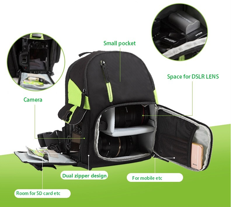 CADEN dslr camera fashion photo diagonal bag pack women insert lens case waterproof  video fotografia single shoulder backpack ecco caden