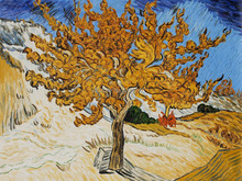 The Mulberry Tree by Vincent Van Gogh Handpainted