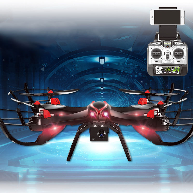 Newest Professional RC drone helicopter 1327 with HD camera 5.8G FPV Real-time transmission 2.4G 4CH FPV quadrocopter VS U818S professional 1327 rc drone with hd camera 2 4g 4ch wifi fpv real time transmission rc helicopter quadcopter vstarantula x6 u842