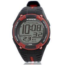 メンズスポーツ腕時計トップブランドの高級ダイビングデジタル LED 軍事腕時計男性ファッションカジュアルエレクトロニクス腕時計時計男性 GD