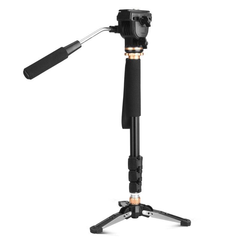 2018 HEIßER QZSD Q159 Reisen einbeinstativ mit mini stativ professionelle panhead 2 in 1 stativ einbeinstativ für DSLR digital video kamera
