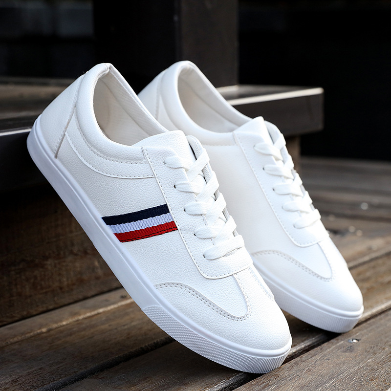 Fashion Summer White Shoes Casual Men Leather Shoes Lace Up Driving Moccasin Men Soft  Breathable Sneakers Men Loafers 2019 New