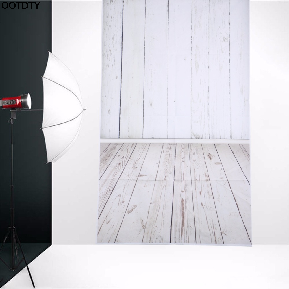 3x5ft flower wood wall vinyl background photography photo studio props - 3x5ft White Wood Wall Floor Photography Backdrop Studio Photo Background Wall L060 New Hot