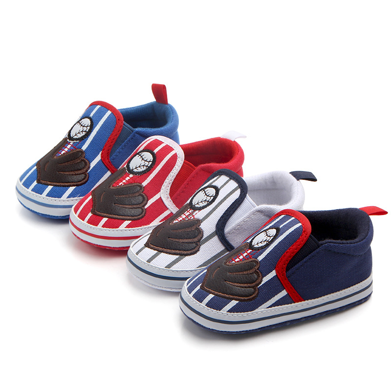 New Baby Boys Cute Baseball Shoes Infant Toddler Shoes First Walkers