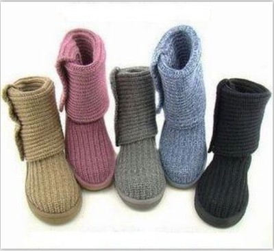 2019 New Wool Booties Korean Wave Knit Thick Wool Snow Boots Women2019 New Wool Booties Korean Wave Knit Thick Wool Snow Boots Women