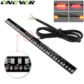 Universal LED Motorcycle Brake Lights Turn Signal Light Strip High quality 33 Leds License Plate Light Flashing Tail Stop Lights