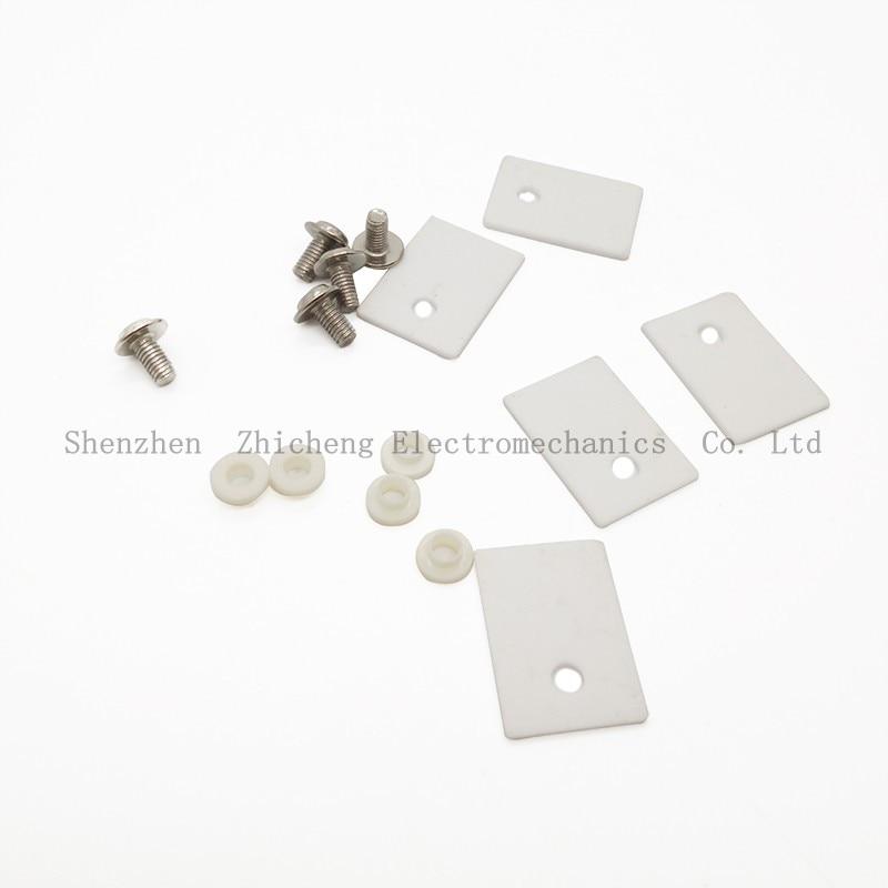 5Pcs TO-220 TO220 1x14x20mm Ceramic Transistor Triac Thyristor Insulator Insulation Protection mica fs16um 5 to 220