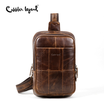 Cobbler Legend Genuine Leather Men Chest Pack Single Travel Shoulder Back Bag Crossbody Bags for Men Sling Shoulder Bag Back