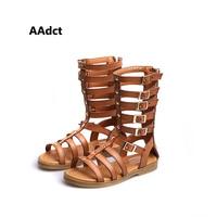 2019 summer New Fashion high Rome girls sandals soft sole little children sandals shoes Open toe hollow princess kids sandals