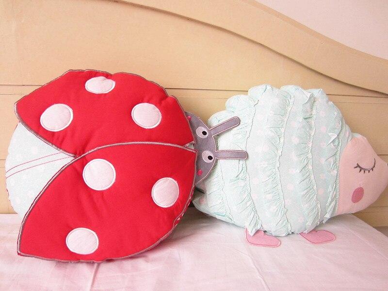New special sale ladybug shape pillow bedding cushion cartoon pillows sofa car children lovely nap pillow girl birthday gift