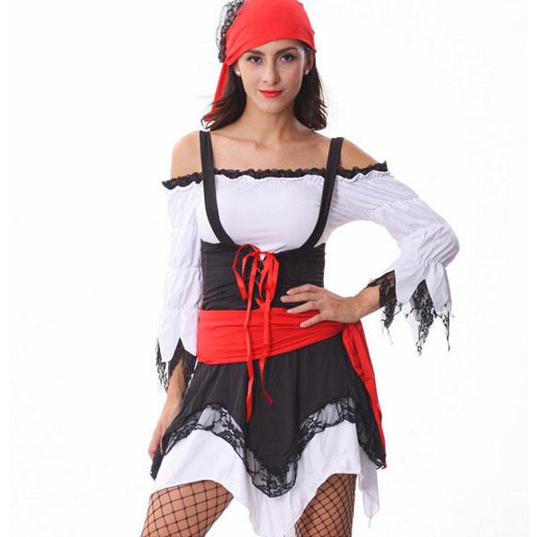 Free Shipping Sexy Jagged Hemline Pirate Costume