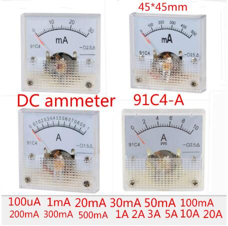 DC 20mA Analog Ammeter Panel Pointer AMP Current Meter Gauge 85C1 0-20mA DC