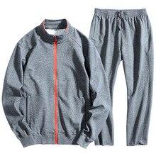 8XL Men Tracksuit Sportswear Autumn Zipper Sports Jacket Sweater Sweatshirt+pants Running Jogging Casual Set Leisure Sport Suit