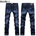 Beswlz New Arrival Men Straight Jeans Pants Casual Fashion Classical Denim Jeans Men Slim Male Jeans Asian Size 36 6124