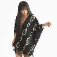 CT454 אתני אלגנטי אופנה שרוול עטלף גיאומטרי Komono חיסול רק 1 Piece במלאי בתוספת גודל נשים סקסי נשים קימונו