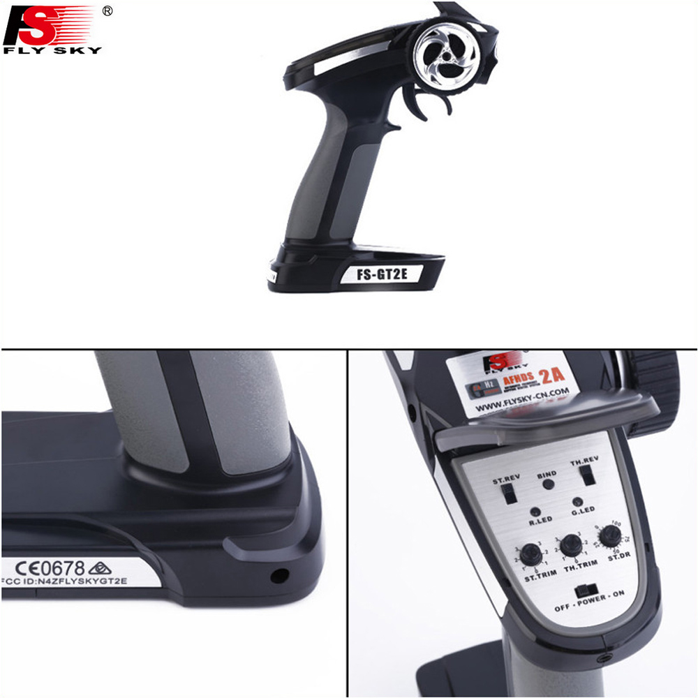 Image 3 - 1pcs Original Flysky Transmitter FS GT2E AFHDS 2A 2.4g 2CH Radio System for RC Car Boat with FS A3 Receiver(No Box)-in Parts & Accessories from Toys & Hobbies