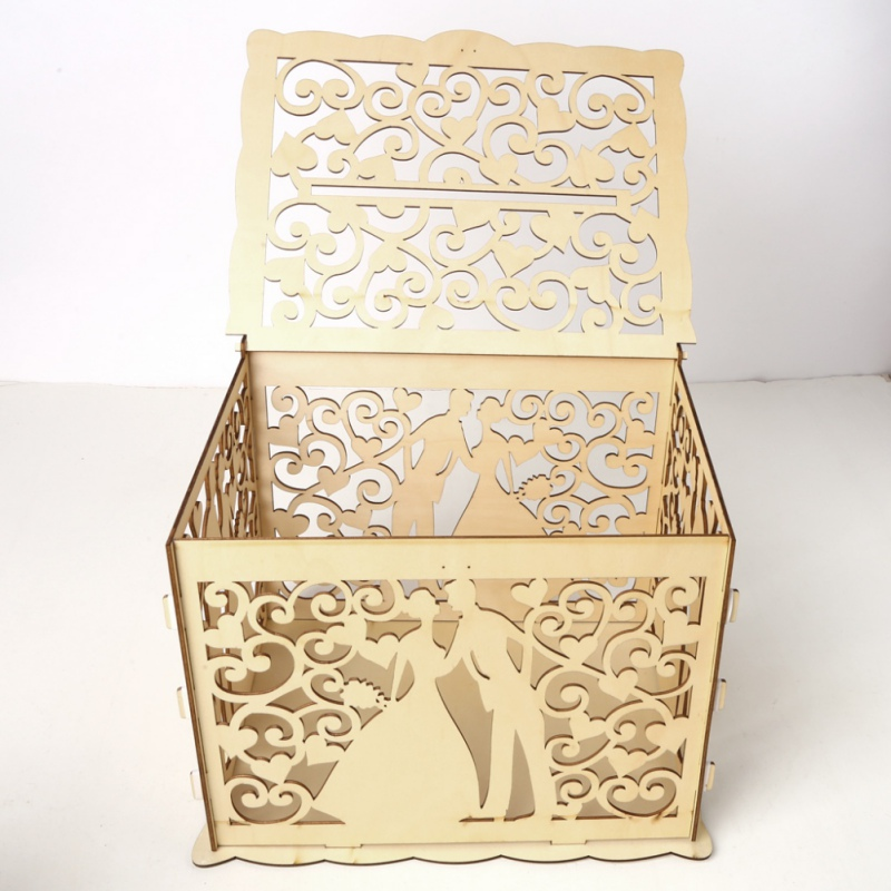 Us 12 48 23 Off Diy Wedding Card Box With Lock And Card Sign Gift Card Holder For Reception Baby Shower Wedding Anniversary Party Decorations In