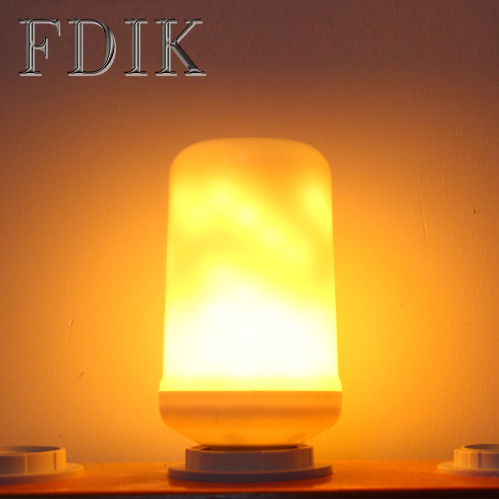 3W LED Flame Bulb E27 Retro LED Lamp For Sitting room Bedroom Club Bar Holiday Decoration Lighting Indoor Night light desk lamps