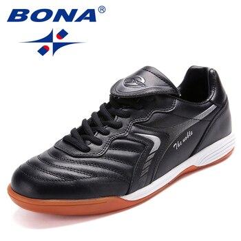 بونا جديد الكلاسيكية نمط الرجال أحذية كرة القدم المهنية مدرب الرجال لكرة القدم أحذية الدانتيل يصل الذكور رياضية مريحة شحن مجاني