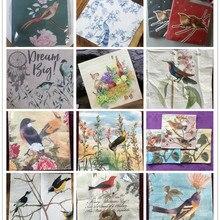20 vintage papel pañuelos servilletas estampado pájaros árbol flores mariposa nido decoupage boda fiesta hogar Mesa decoración guardanapos